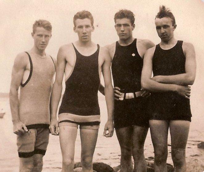 Historia De La Lenceria De Baño:HISTORIA DE UN TRAJE de BAñO para hombres: La historia de un traje de