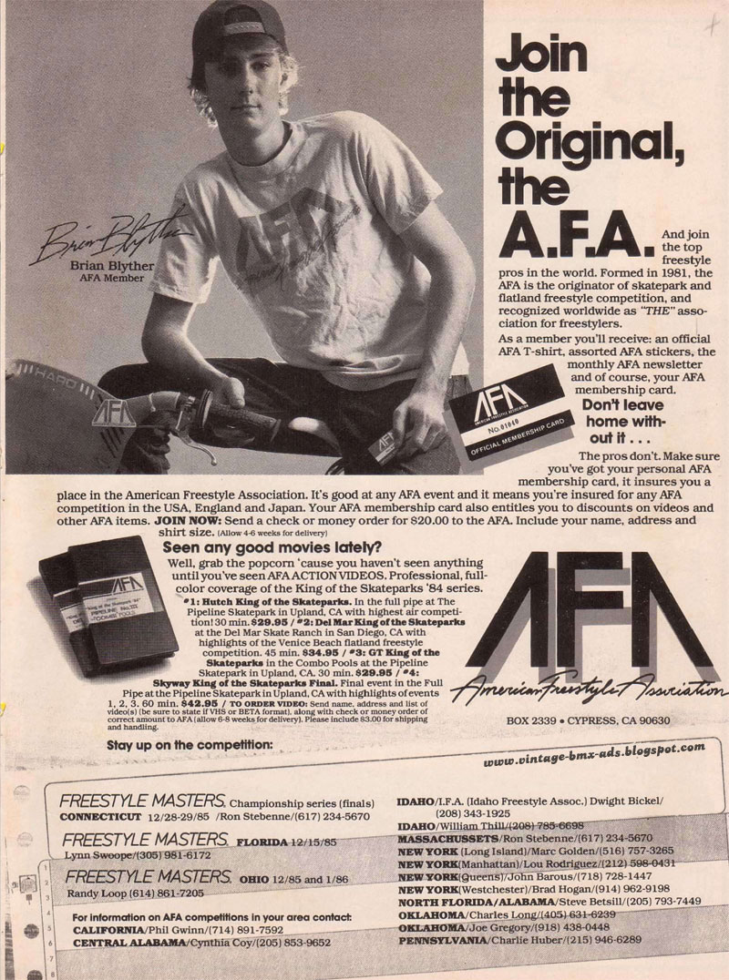 sticker AFA old school bmx American Freestyle Association