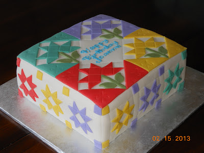 Design Patterns Of Cake : It s a piece of cake: Quilt Birthday Cake