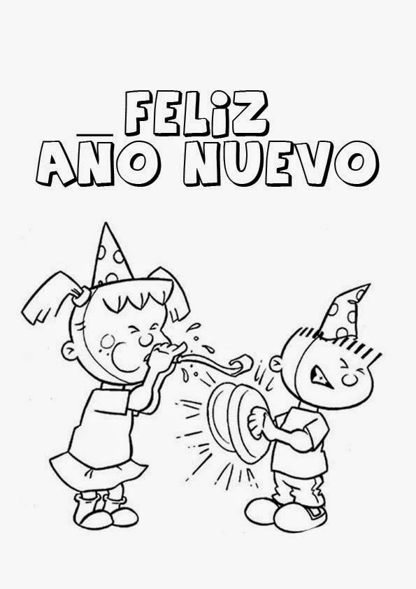 Dibujos para Colorear: Dibujos de Feliz año nuevo