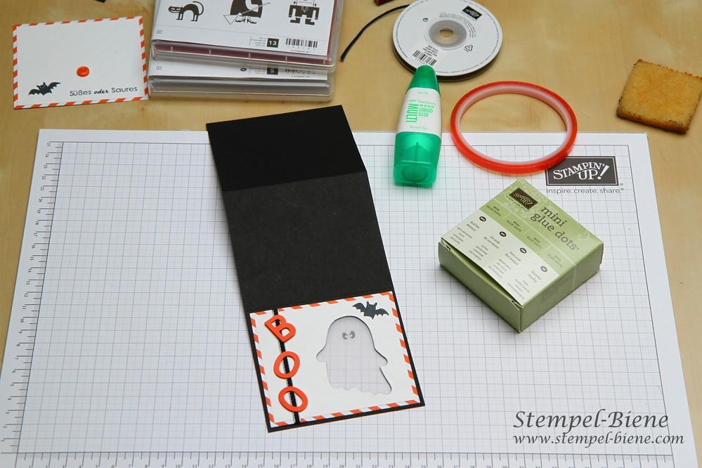 Anleitung für eine Lichterkarte, Anleitung Halloween Lichterkarte, Stampin' Up Halloweenkarte, Stampin up Bestellen, Stampin up ruhrgebiet