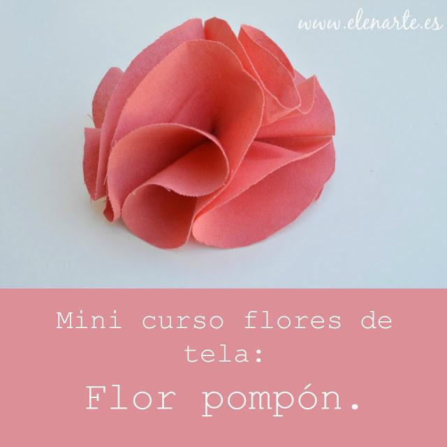 Flor de tela pompon
