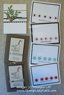 Cards made at the July Senior Center Classes