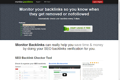 monitorbacklinks.com homepage image