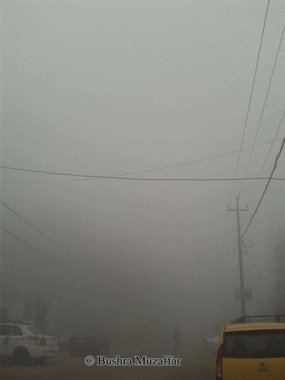 Fog in Noida, December 2013