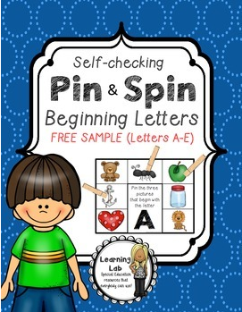 http://www.teacherspayteachers.com/Product/Beginning-Letters-A-Pin-Spin-Activity-1174488