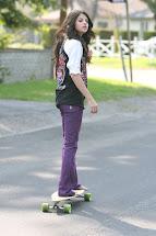 Selena Gomez Barefoot Skating