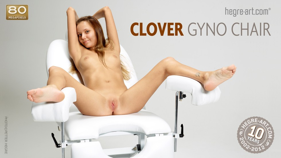 Woman in gyno chair