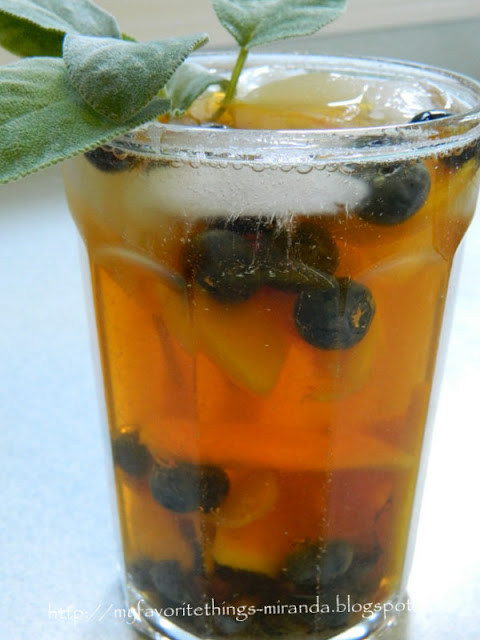 My Favorite Things: Peach Blueberry Iced Tea