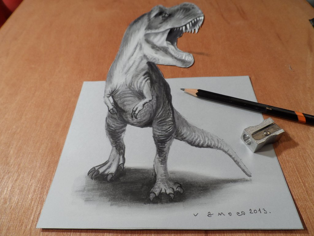 08-T-Rex-Sandor-Vamos-3D-Optical-Illusions-Anamorphic-Drawings-Videos-www-designstack-co