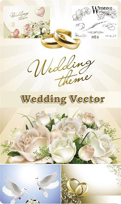 Vector Wedding Clipart, Vector My Wedding Day Clipart, Vector Wedding