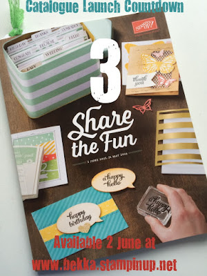 Just 3 days to go to the new 2015/16 Stampin' Up! UK Catalogue - get it here
