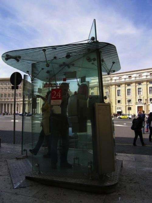 Italian phone booth