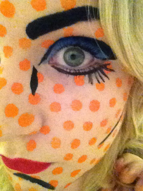 Roy Lichtenstein Pop Art Face Paint Eye Close Up