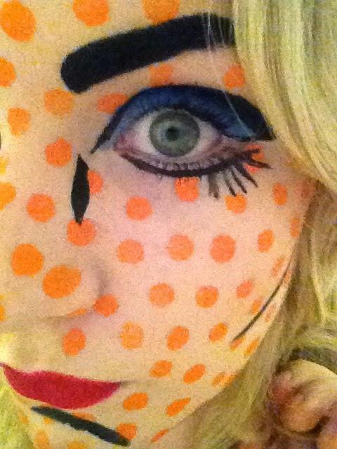 Roy Lichtenstein Pop Art Face Paint Eye Close Up
