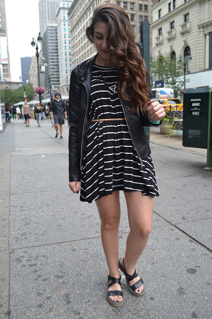 outfit, striped dress, NYC, New York, fashion blogger, fashion blogger argentina