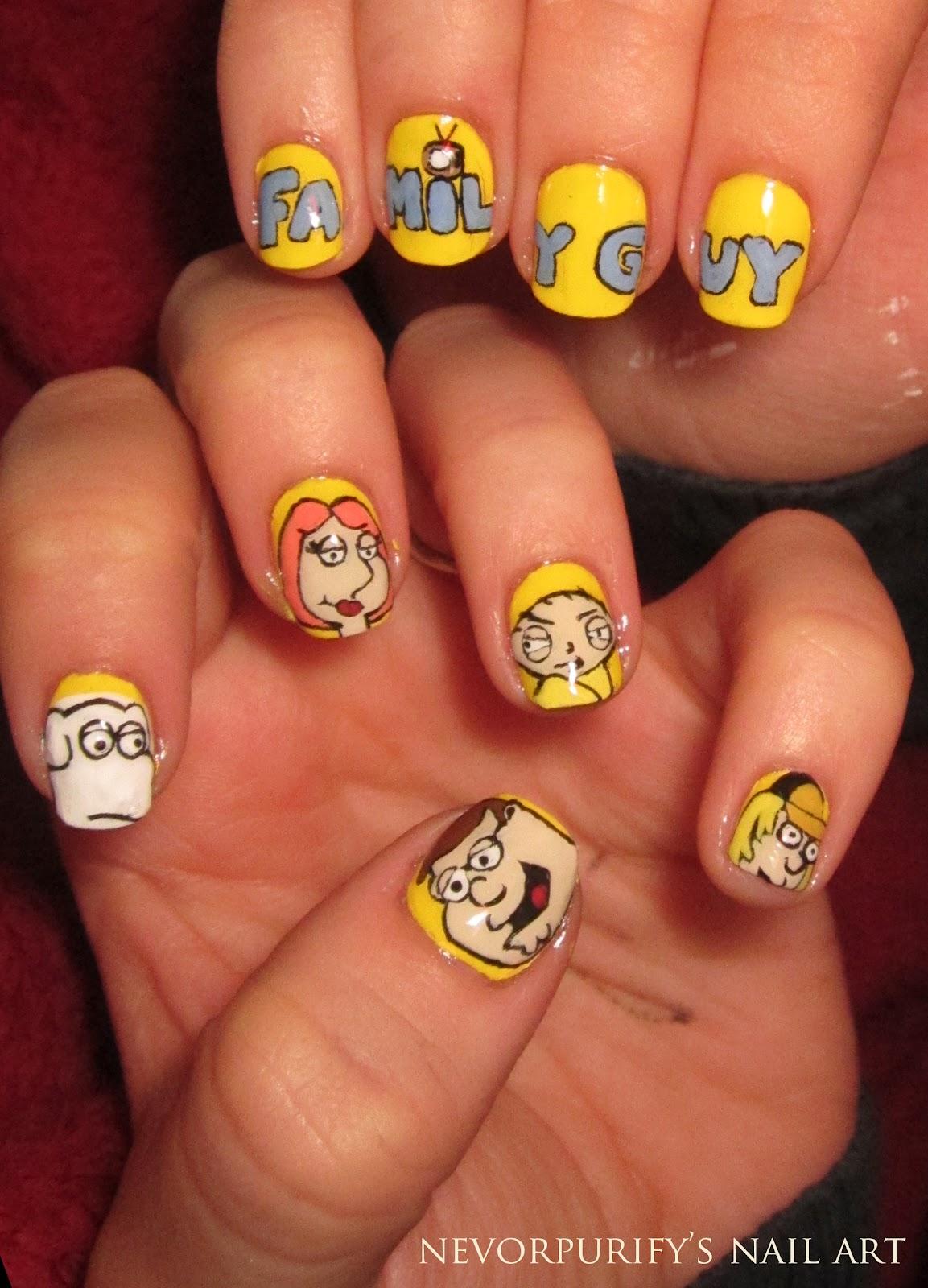 Family Guy Nails Art Decoration Unghie De Arte Nails Art Decoration