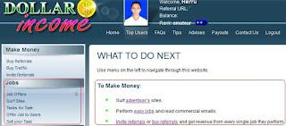 Cara Mencari Dollar dari Internet lewat Dollarsincome
