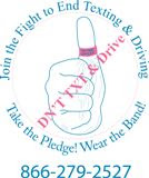 Order Texting Thumb Bands in Stock Pink and Blue or Custom Colors