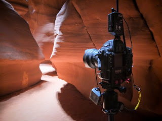 Nikon D3s with remote used to photograph Upper Antelope Canyon in Page, Ariz.