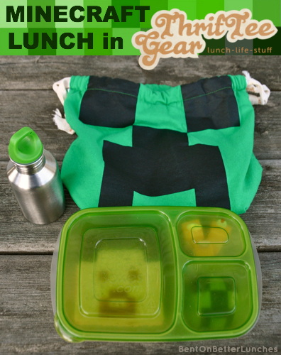 ThrifTee Gear bag review & MineCraft bento school lunch