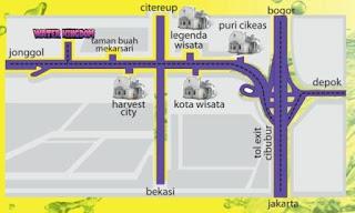 Peta Lokasi Water Kingdom Mekarsari