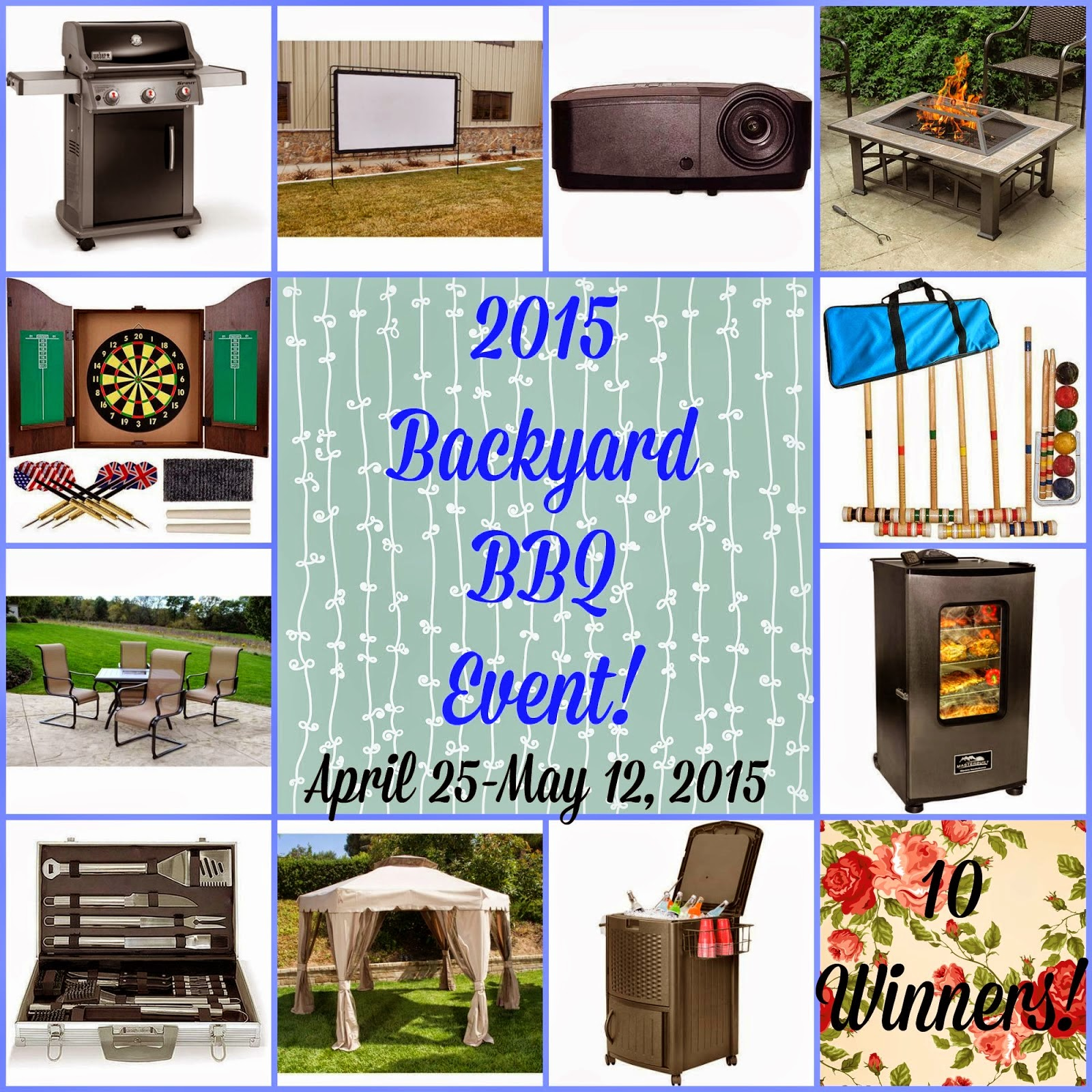 image Back yard BBQ Event Giveaway prizes April 25- May 12,2015