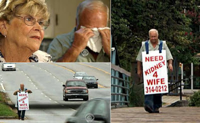 UNDYING LOVE: South Carolina man, 78, wears sandwich board to help wife