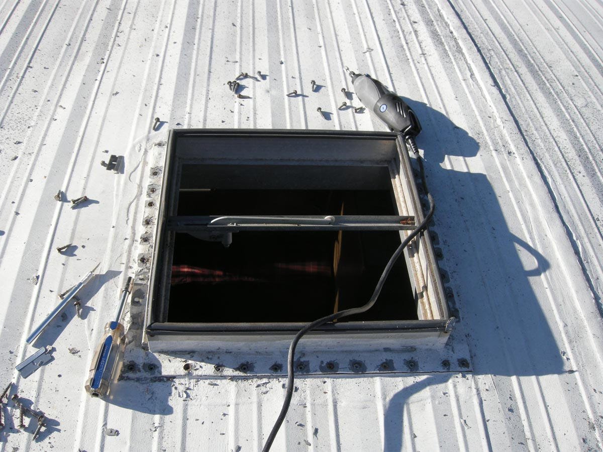 Replacing The Roof Vent On The Aristocrat Travel Trailer