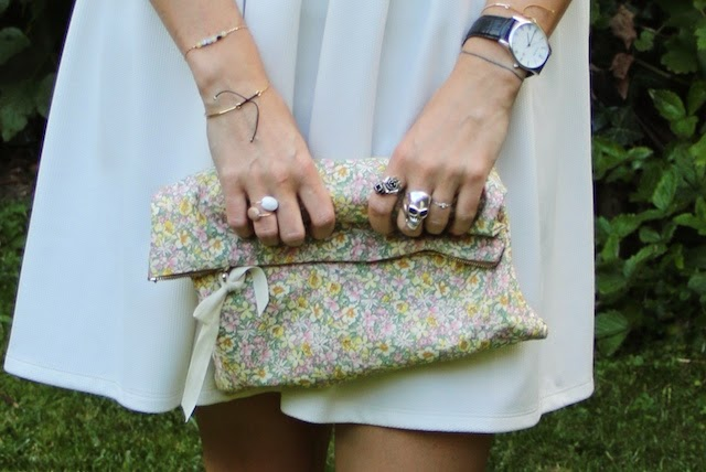 robe blanche, asos liberty, navy outfit, juste juliette, pretty sire, fashion blogger, blog mode lille
