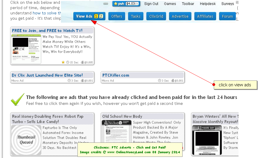 earn money by viewing ads