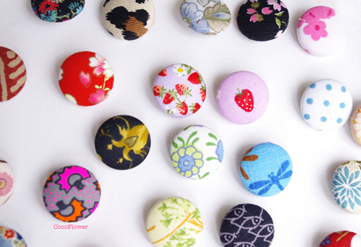 farandole de boutons par cocoflower - www.cocoflower.net