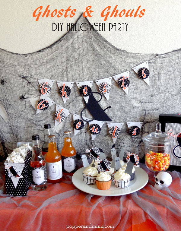 Ghosts and Ghouls Halloween Party | popperandmimi.com