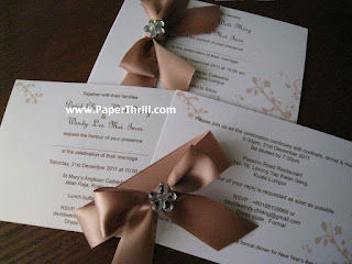 Printed floral wedding invitation card