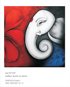 Ganesha Paintings on Canvas