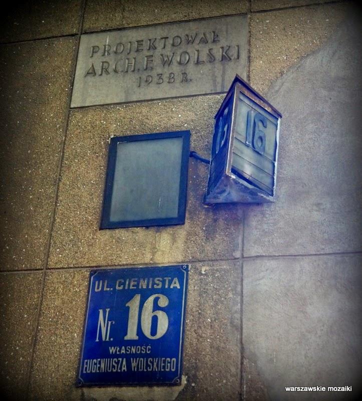 Warszawa ulica NKWD więzienie willa architekt Eugeniusz Wolski
