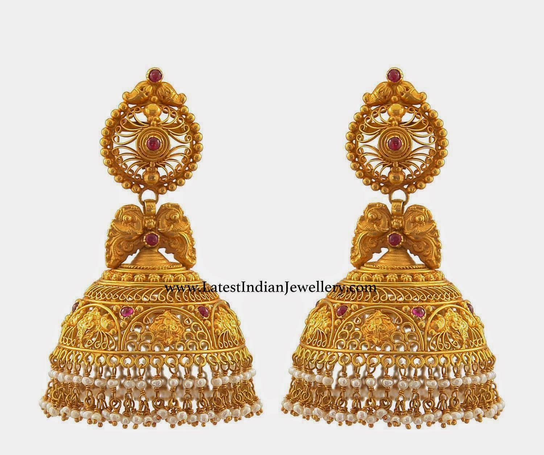 Designer Gold Jhumkas