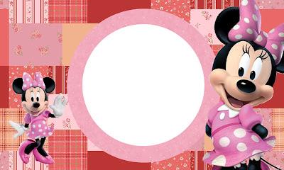 Tarjeta de Minnie con Patchwork