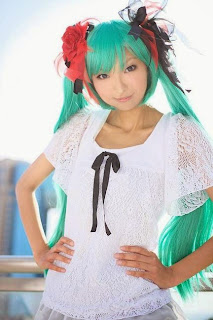 Vocaloid Hatsune Miku cosplay by Necoco