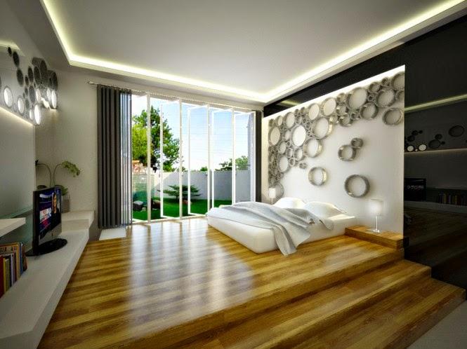 Desain Warna Plafon Kamar Tidur