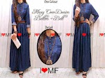 MF1636 Maxi Coco Denim + belt HABIS