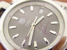 TAG HEUER LINK TIGER WOOD GREY GUILOCHE DIAL - AUTOMATIC