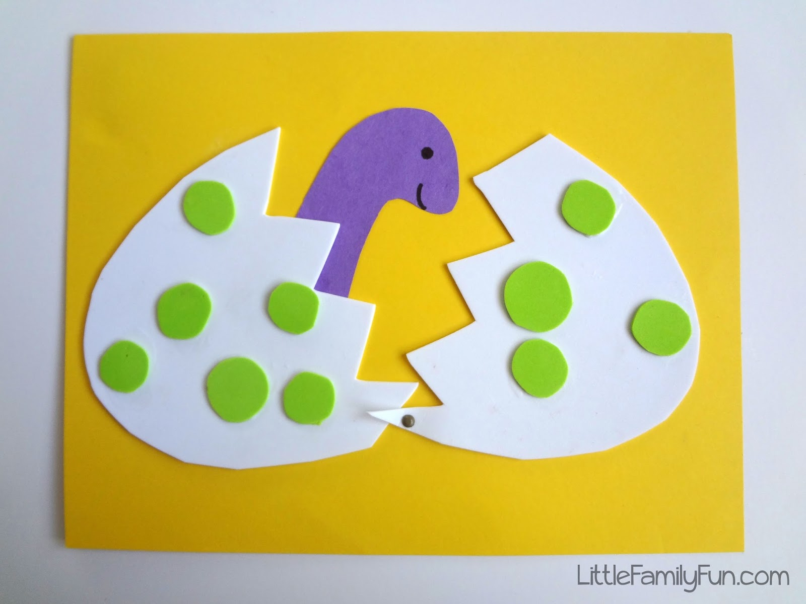 Dinosaur arts and crafts - Hatching Dinosaur Egg Craft