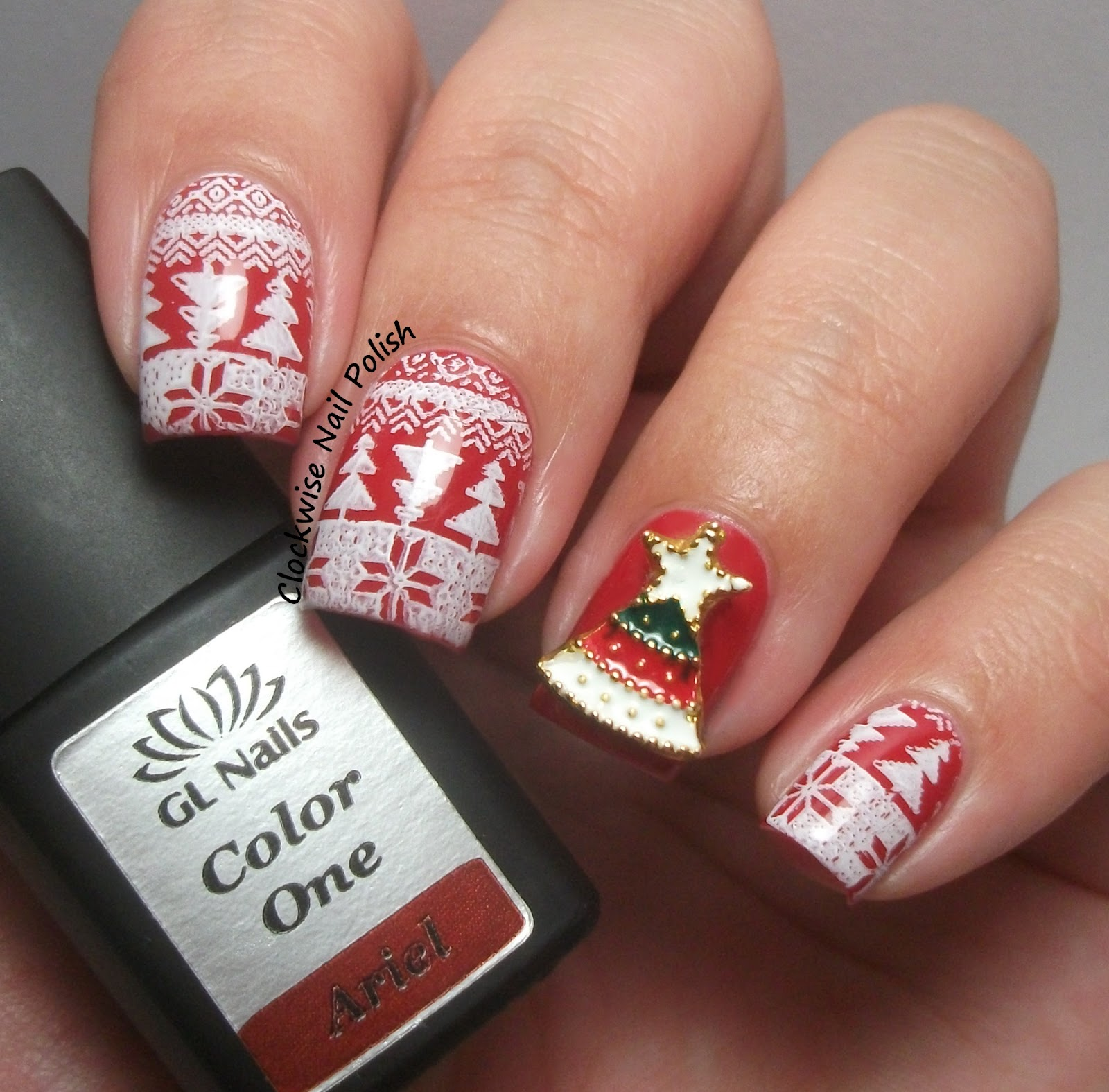 The clockwise nail polish born pretty store 3d christmas for 3d nail art decoration