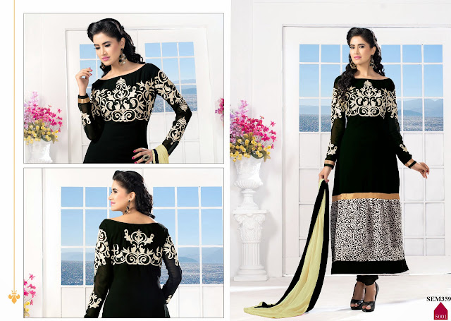 Stylish And Gorgeous Georgette Long Salwar Kameez