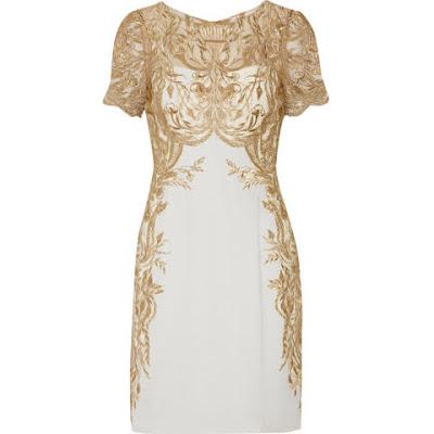 vestido branco dourado