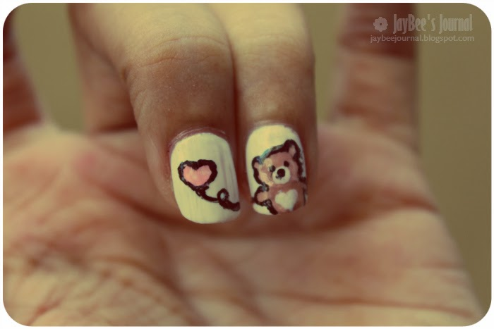 valentine's day nail art tutorial teddy bear, pakistani beauty blog nail art book blog, pakistan nail art