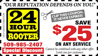 $25 Dollar Off Yakima Coupon for Plumbing and Drain Cleaning Service
