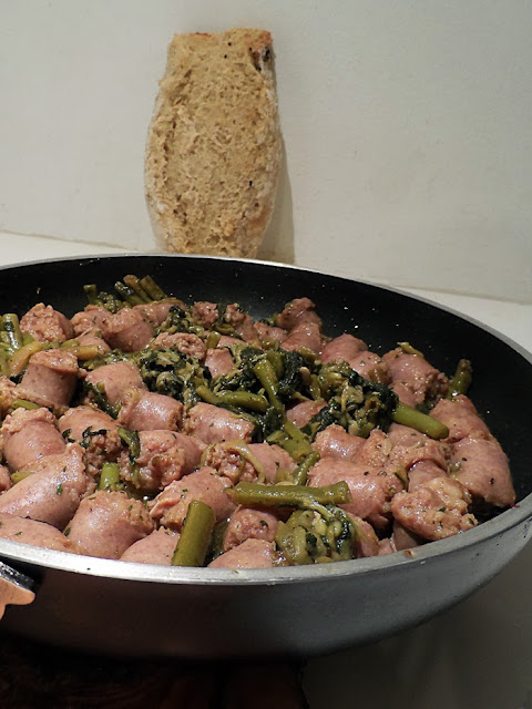 spadellata di salsicce e broccoletti