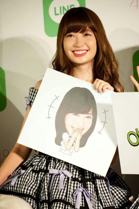 Las primeras 16 integrantes de la elección Senbatsu de AKB48 tendrán sus stickers en LINE 06